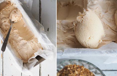 Klassisk vaniljeis med krokant