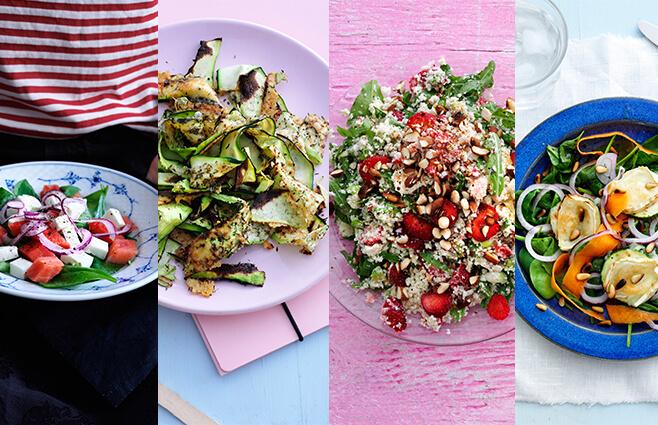 4 sprøde & smagfulde salater