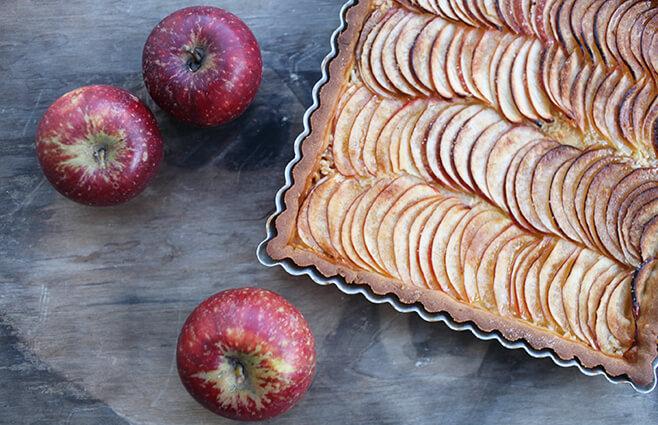 Klassisk fransk æbletærte