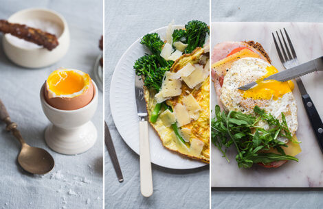 Lækker morgenmad med æg