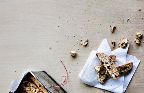 Biscotti med chokolade & mandler