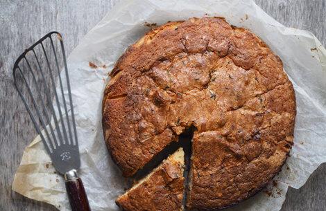 Blomme-lavendel kage