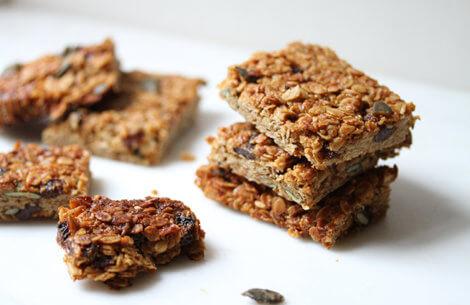 Sunday treat: Flapjacks med kokos & peanutbutter