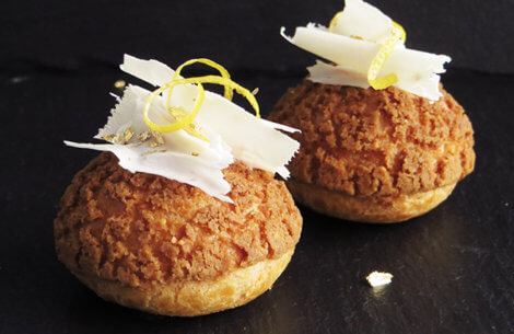 Cream puffs med citron & chokolade