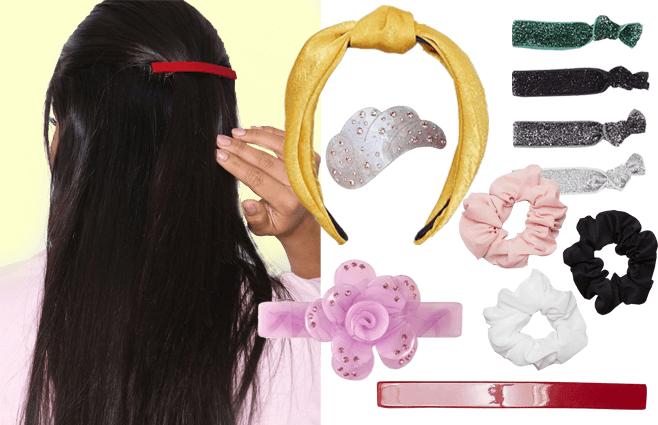 Farverige hår-accessories der sætter prikken over i'et
