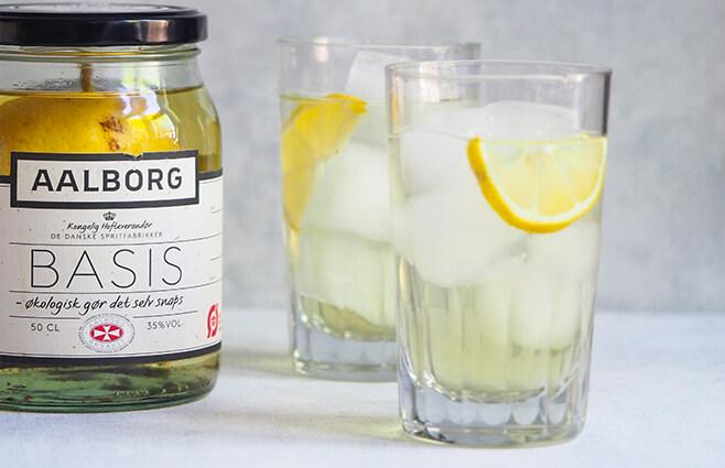 Citron-vanilje snaps med hyldeblomst