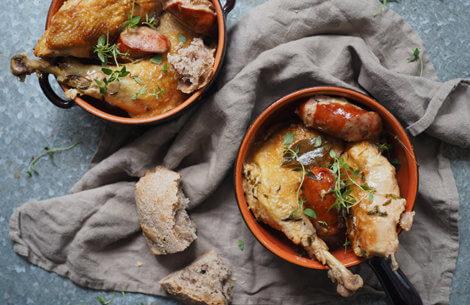 Fransk landgryde med kylling
