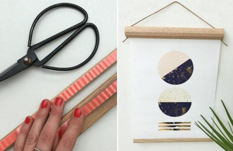DIY: Forny dine vægge med fine trærammer