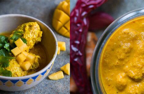 Hverdagsret: Smørmør kylling i frisk gurkemeje-karry-pasta