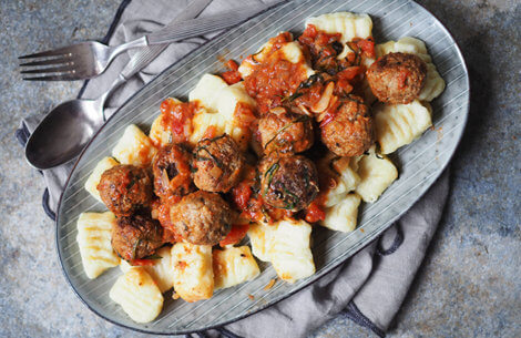 Gnocchi med kødboller