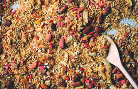 Glutenfri granola med kardemomme