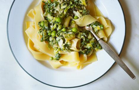 Grøn pasta med krydderurter