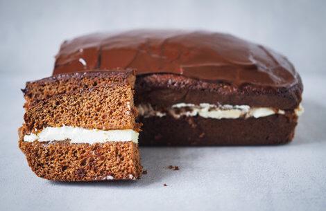 Himmelsk vinter-kage med vanilje-smørcreme
