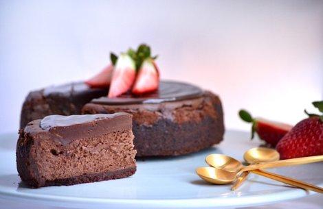 Cheesecake fyldt med chokolade