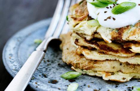Små grønne hebraiske pandekager