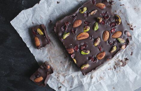 Chokolade-trøffel med lækkerier