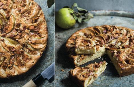 Klassisk æblekage med kokos & mandler