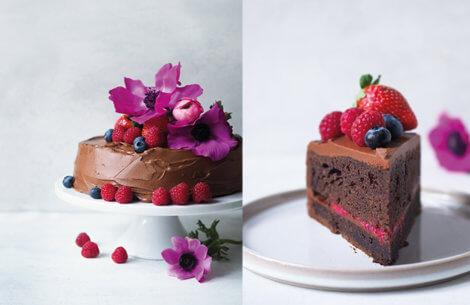 Chokoladekage med syrlige