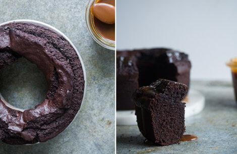 Chokoladekage med orange & karamel