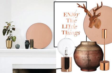 Skab varme i hjemmet med smukke kobber-items