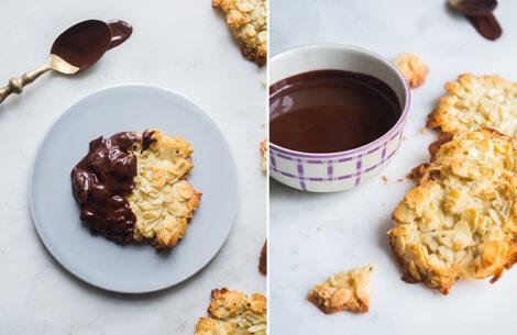 Mandelkager med chokolade