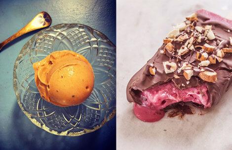 Ugens sunde desserter: Chokolade mousse & Jordbærstang med nøddecrunch