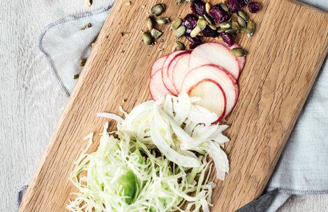 Nem salat med hvidkål