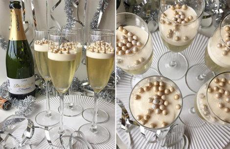 Nytårsdessert med champagnegelé & champagnemousse