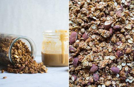Peanutbutter & quinoa granola