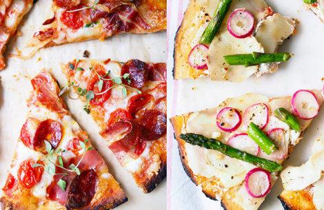 Pizza med chorizo & jordskokker
