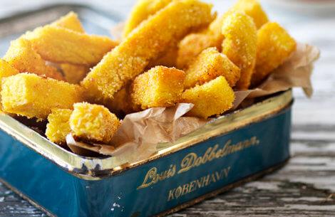 Sprøde polenta-fritter