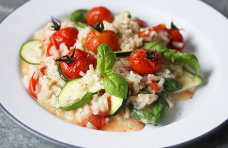 Risotto med tomat