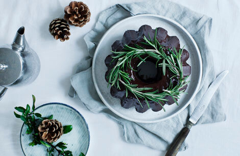 Julet chokoladekage med rosmarin