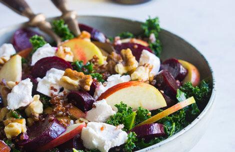 Salat med grønkål