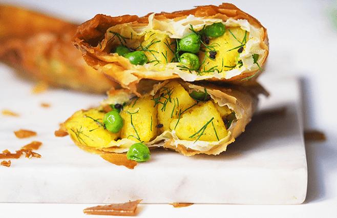 Samosa med kartoffel