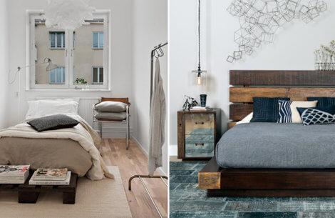 Sådan laver du en trendy & rustik seng af paller