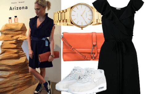 Shop Christianes look: Feminin med et twist