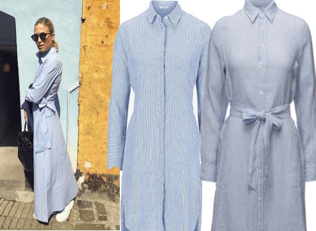 Shop Christianes look: Skjortekjolen