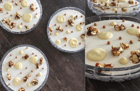 Sommerdessert: skyr-mousse med hvid chokolade