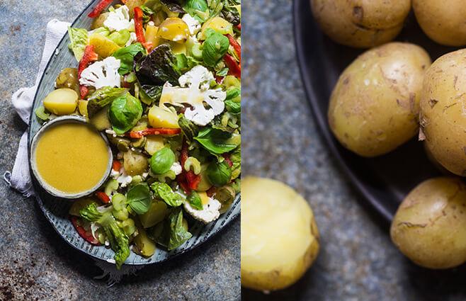 Sommersalat med nye kartofler