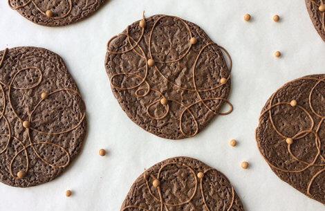 Lækre & dekorative chokoladecookies