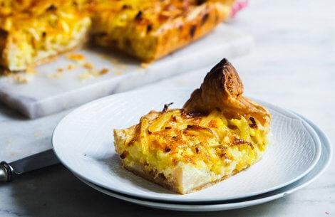 Kartoffel-blomkålstærte