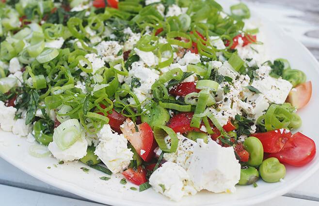 Tomatsalat med hestebønner & feta | ChriChri
