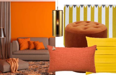 Brug varme farver i indretningen