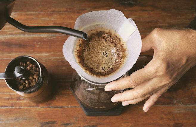 kaffebrygning med slow brew