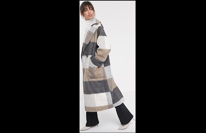 ASOS DESIGN - Oversized ternet maxifrakke