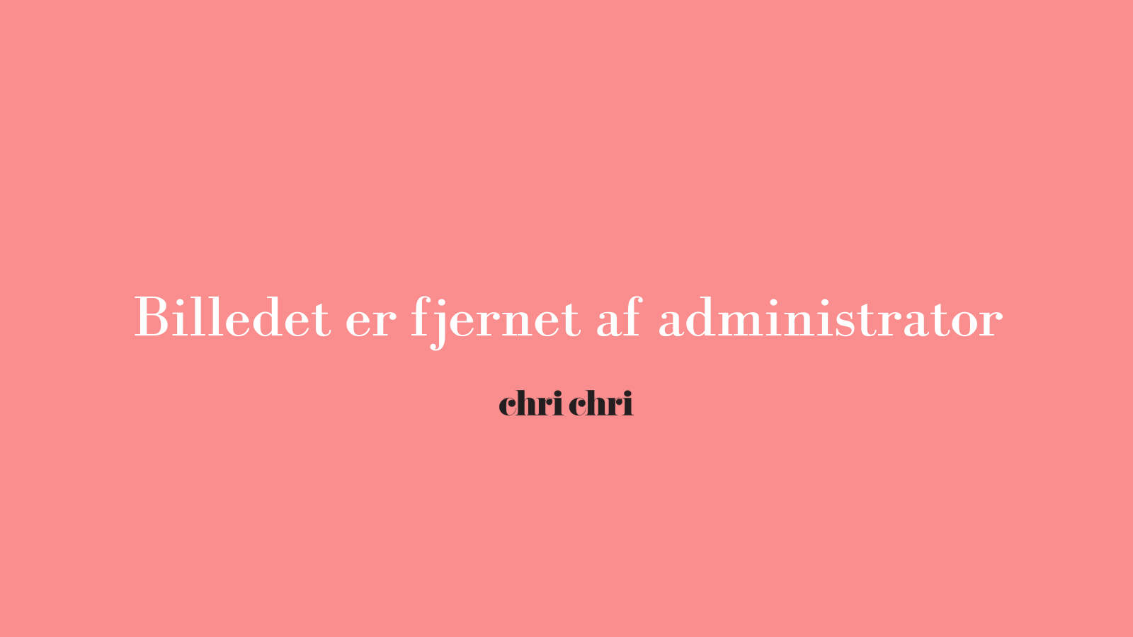 Christiane: Derfor lavede jeg ChriChri